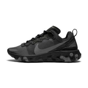 Nike React Element 55 Mens Triple Black Size 10